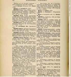 Majewski - bibliografia Karola Estreichera