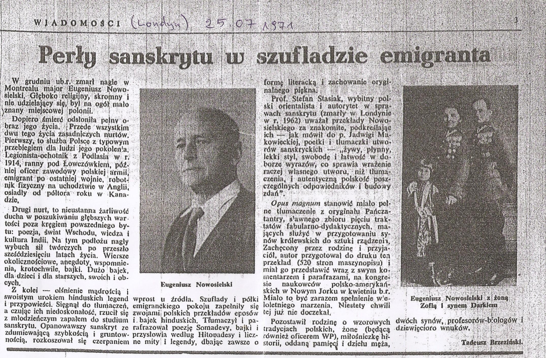 Eugeniusz Nowosielski - artykuł